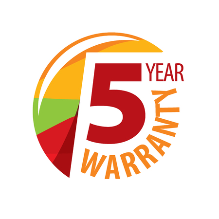 logo 5 years warranty. Vector illustration of icon