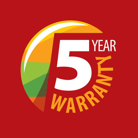 warranty: logo 5 years warranty. Vector illustration of icon