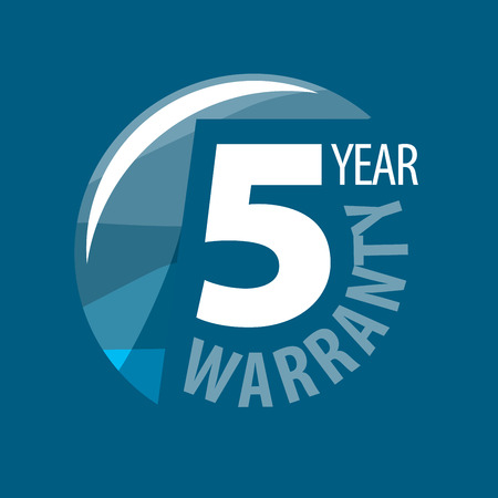 one year warranty: logo 5 years warranty. Vector illustration of icon