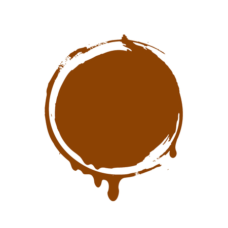 chocolate drops: template design stamp Chocolate. illustration of icon