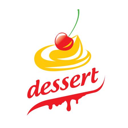 template design logo dessert. Vector illustration of icon
