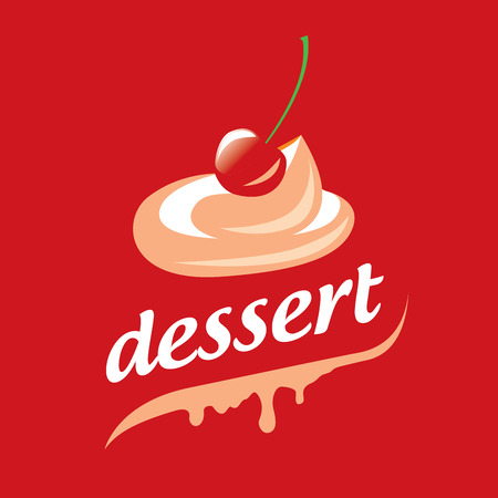 template design logo dessert. Vector illustration of icon Illustration