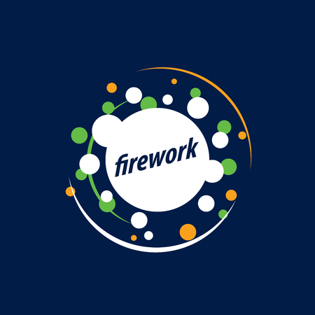 template design logo firework. Vector illustration of icon