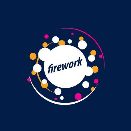 template design logo firework. Vector illustration of icon