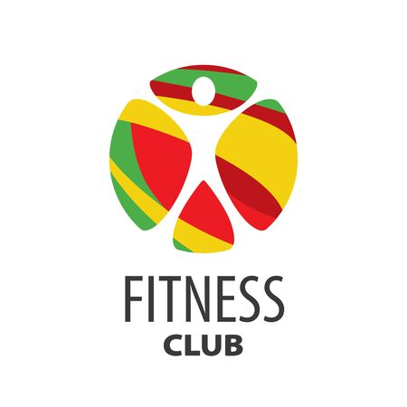 template design logo fitness. Vector illustration of icon