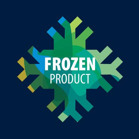 template design logo frozen. Vector illustration of icon