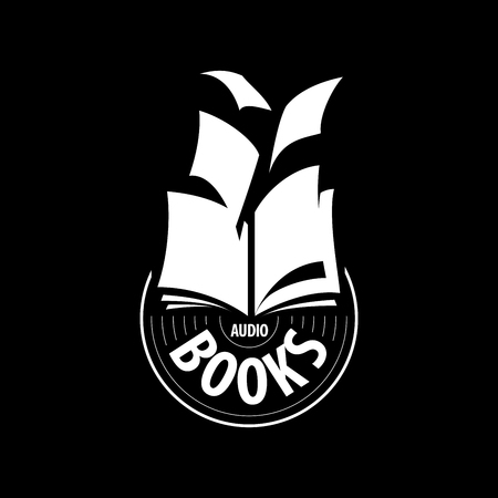 logo audio books fly away sheets. Vector illustration of icon Illustration