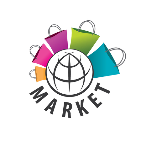template design logo market. Vector illustration of icon