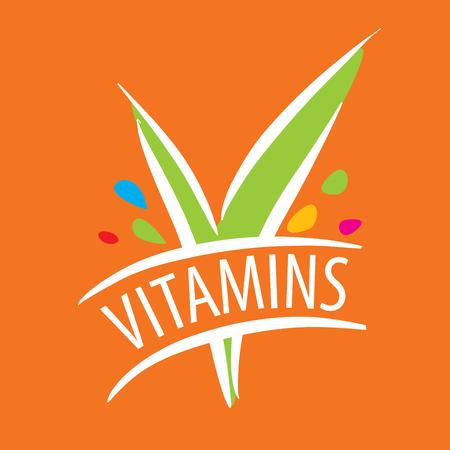 pilule: Logotipo de la plantilla logo vitaminas. Ilustración vectorial de icono