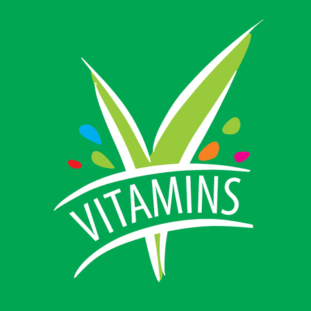 nutritional: template design logo vitamins. Vector illustration of icon