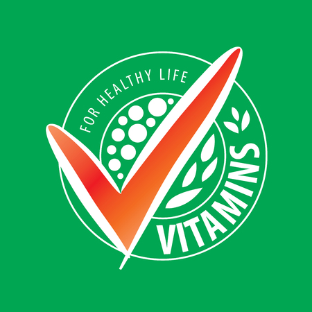 pilule: template design logo vitamins. Vector illustration of icon