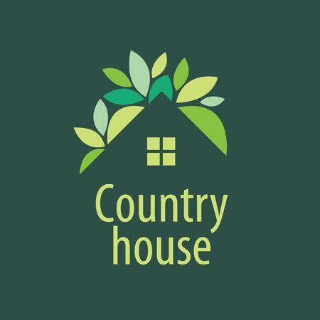 template design logo country house. Vector illustration of icon