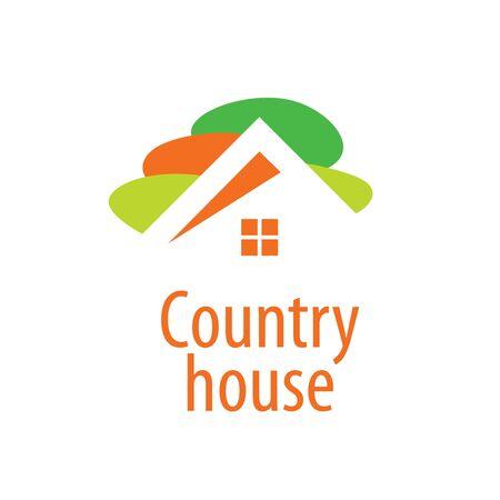 condominium: template design logo country house. Vector illustration of icon
