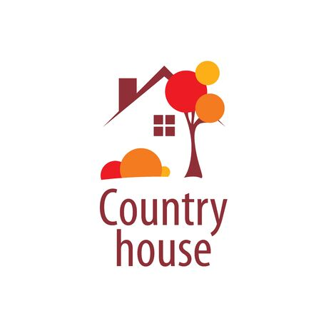 country house style: template design logo country house. Vector illustration of icon