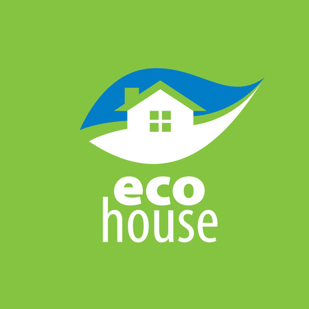 country house style: vector eco house