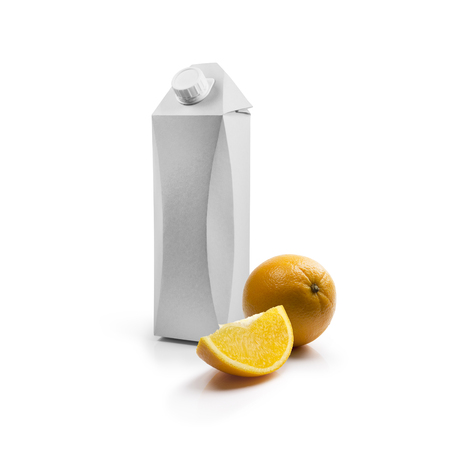 litre: Packing template for juice Stock Photo