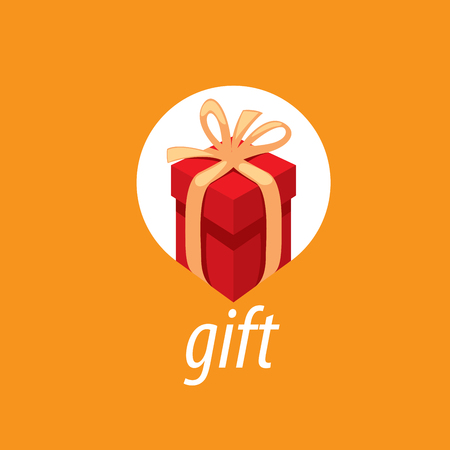 Abstract vector box with gifts. Design element