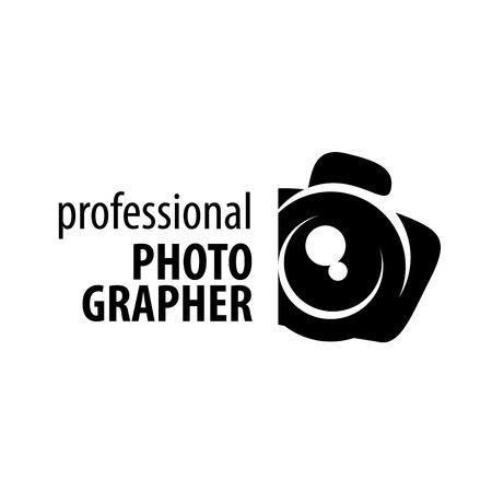 logo aparat fotograf. ilustracji wektorowych z ikoną