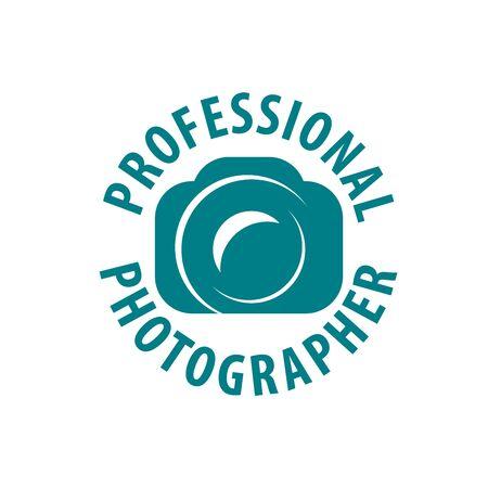logo camera the photographer. Vector illustration of icon