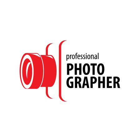 logotipo de la cámara del fotógrafo. Ilustración del vector del icono