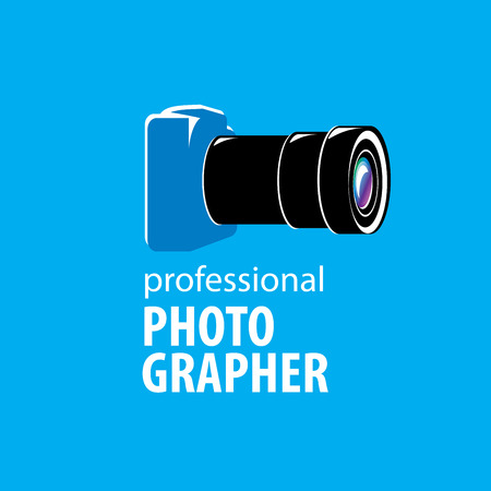 logo camera the photographer. Vector illustration of icon