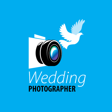 logo for photo studio. Vector illustration of icon Illustration