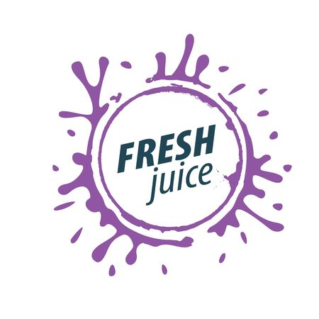 juice splash vector sign