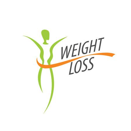 gewichtsverlies logo Stock Illustratie