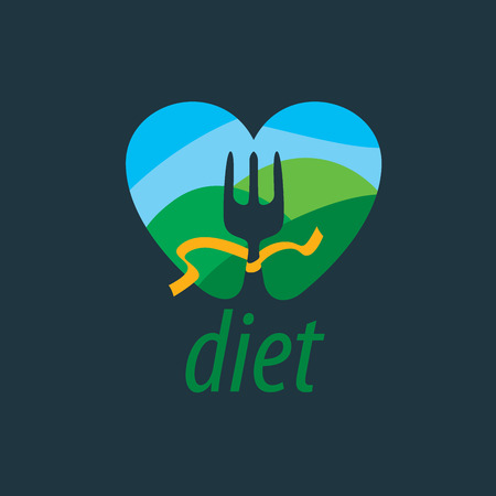 vector logo for diet Illustration