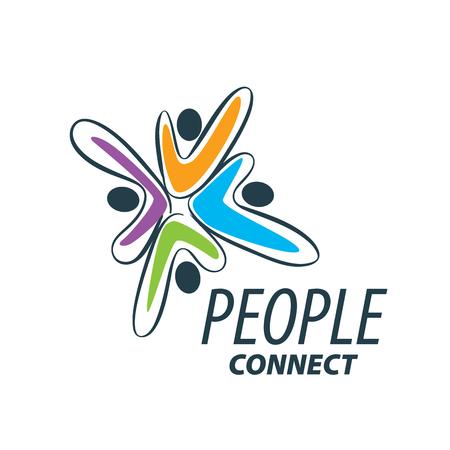 Vecteur logo personnes Banque d'images - 71258572