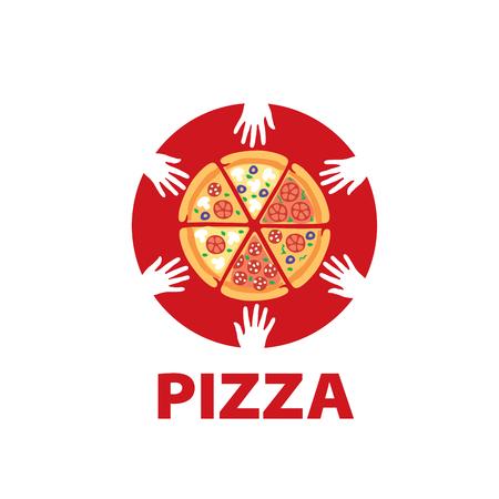 pizza vector logo Stock Illustratie