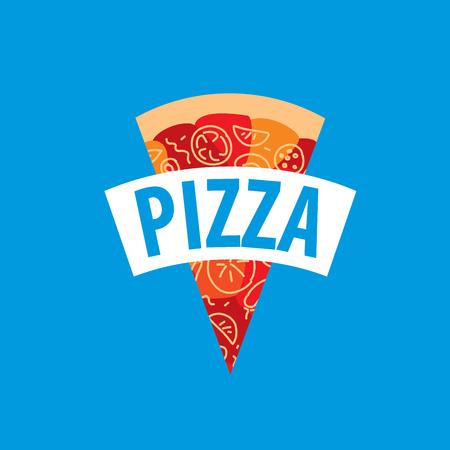 pizza vector logo Illustration