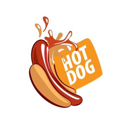 Vector de la insignia del perrito caliente Ilustración de vector