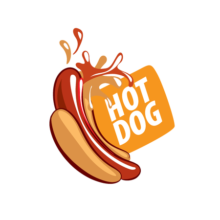 vector logo hot dog Logo