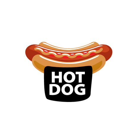 vector logo hot dog