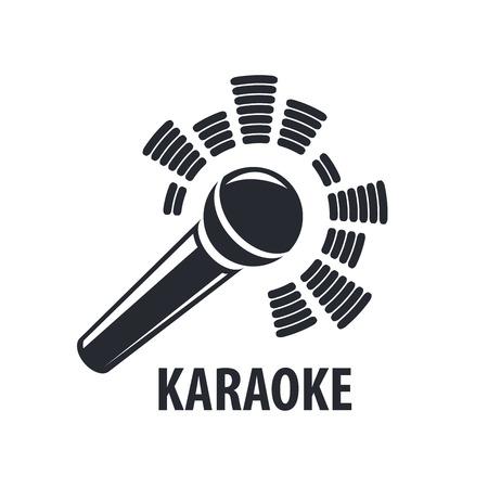 voices: vector logo karaoke