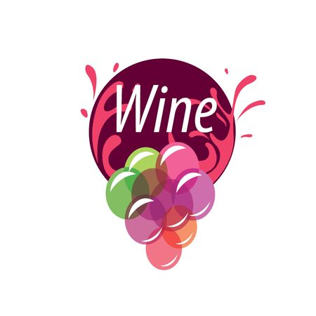bunch: bunch of grapes for wine logo