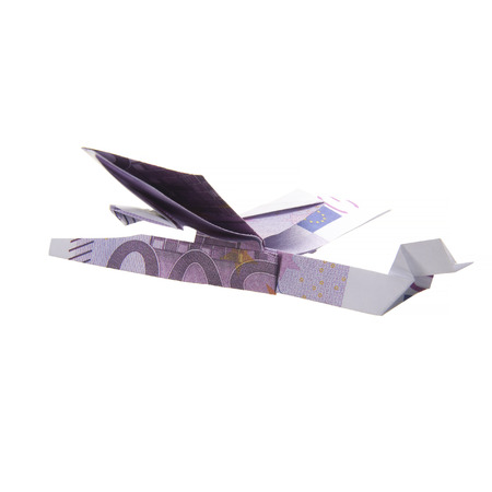 origami airplane from banknotes Stock Photo