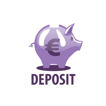 vector logo piggy bank