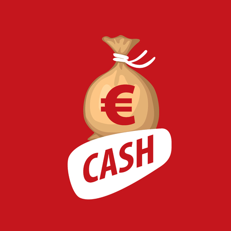 A bag of money vector icon. Business and finance. Euro sign Illustration