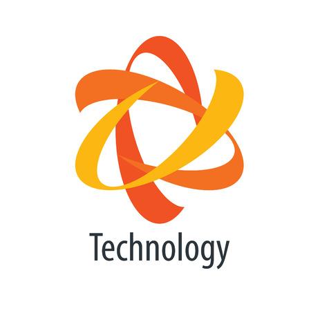 atomic energy: vector logo technology