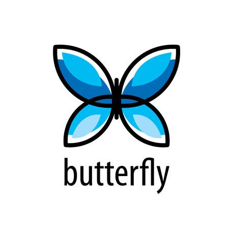 vettore farfalla logo