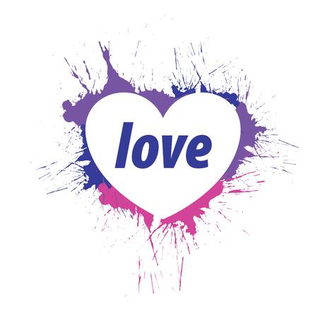 logo heart splash