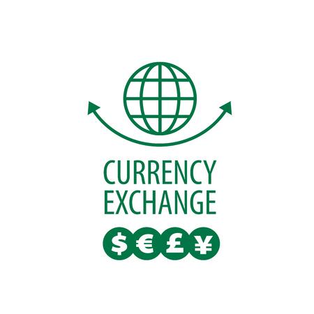 globe logo: vector logo currency exchange Illustration