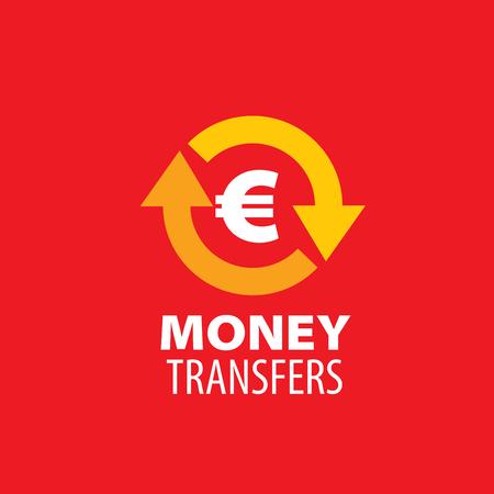 globe logo: logo design template remittances. Vector illustration of icon