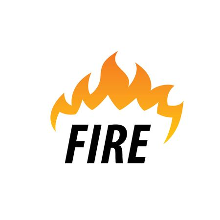 logo template fire. Vector illustration of a flame