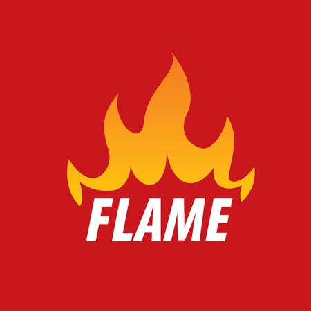 abstract fire: logo template fire. Vector illustration of a flame