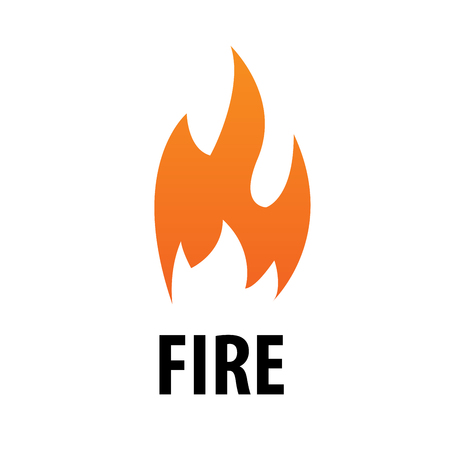 flaming: Simple flaming orange fire vector logo. Illustration