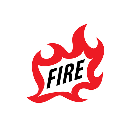 igniting: fire vector logo