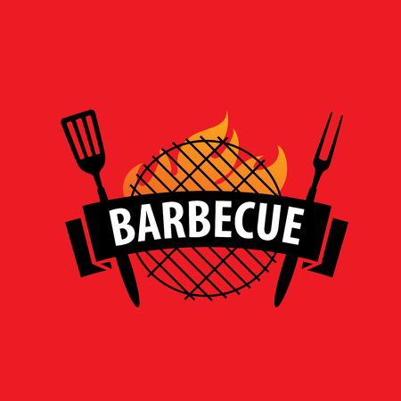 roasted: Barbecue party logo